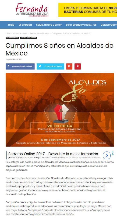 Cumplimos 8 años en Alcaldes de México