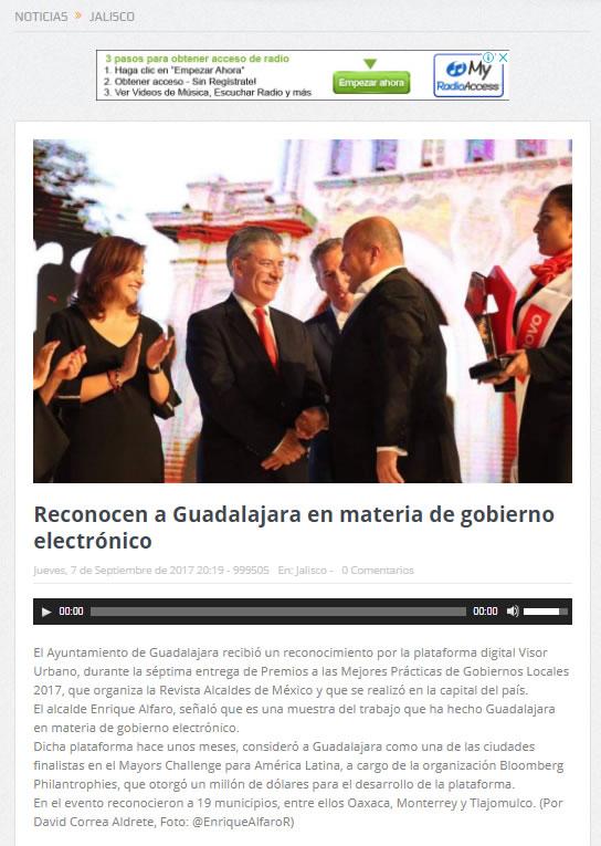 Reconocen a Guadalajara en materia de gobierno electrónico