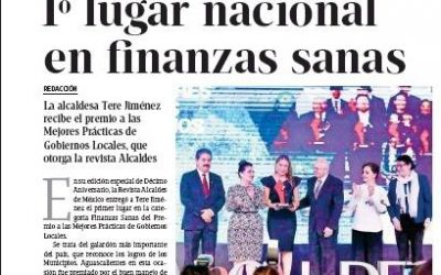 1° lugar nacional en finanzas sanas